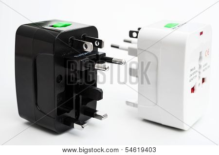 Black And White Universal Adapters