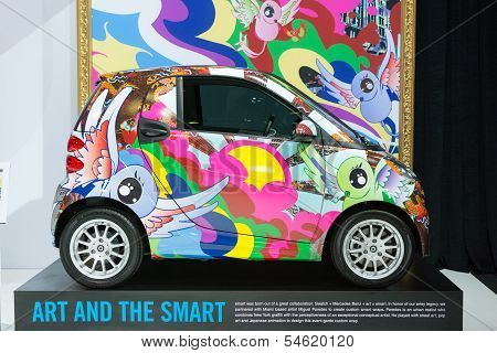 Smart Colors Car On Display At The La Auto Show.
