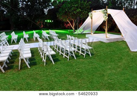 Jewish Traditions Wedding Ceremony. Wedding Canopy (chuppah Or Huppah).