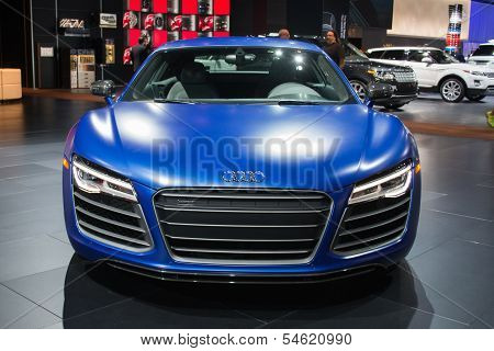 Audi R8 Car On Display At The La Auto Show.