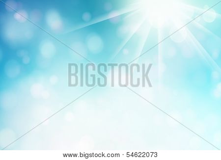 Blue Abstract Soft Background