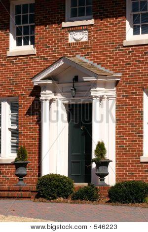 Classic Front Door With Columns