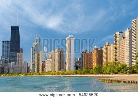 Chicago In A Summer Morning