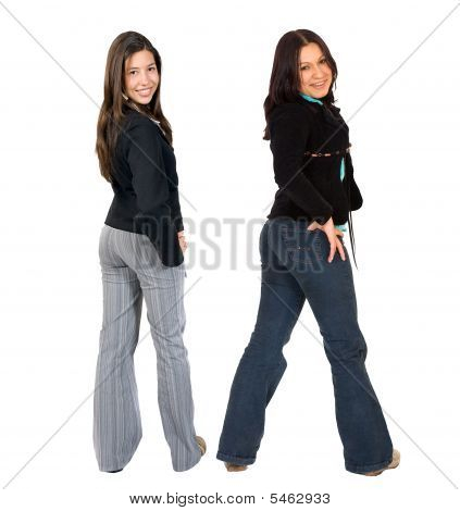 Casual Girls Standing