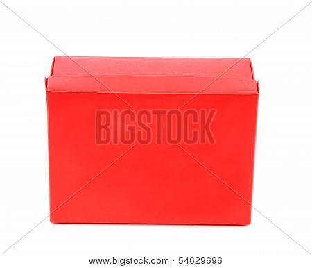 A red shoe box