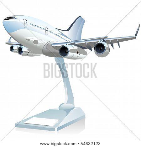 Vector Cartoon Airliner
