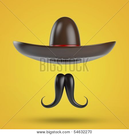 Sombrero With Moustache