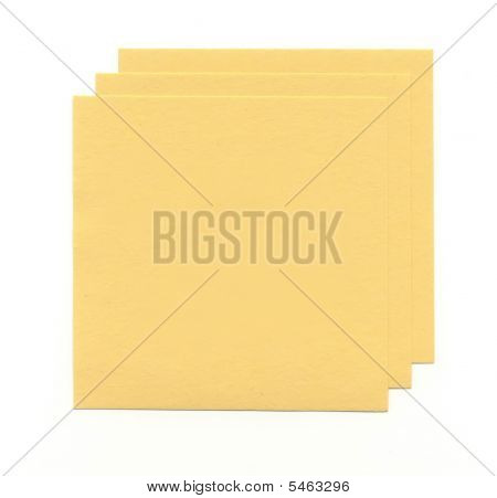 Yellow Sheets Of Paper