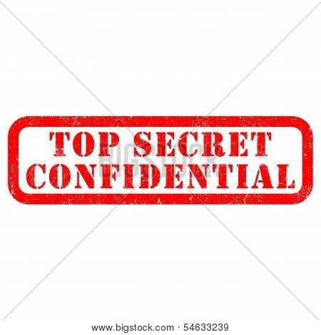 Stamp of Top secret confidential