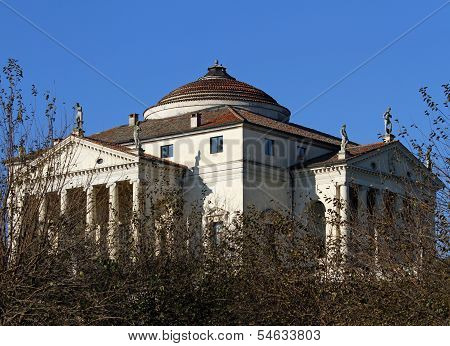 Palladian Villa Called La Rotonda In Vicenza In Italy In Autumn