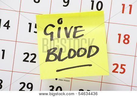 Give Blood Reminder
