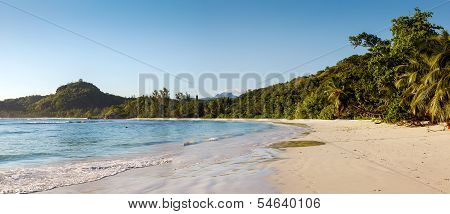 sandy beach at Seychelles