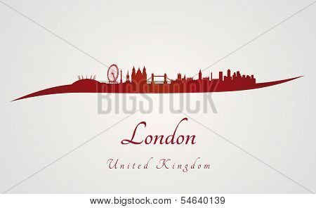 London Skyline In Red