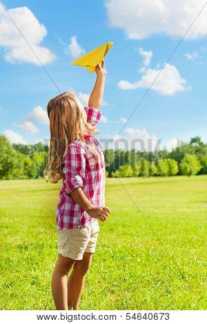 Happy Child Throw Paper Plane