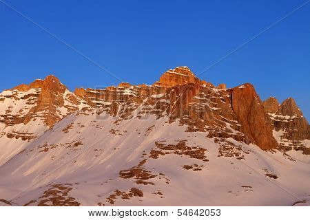 Sunrise At Snowy Mountains