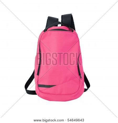 Pink Backpack Isolated With Path