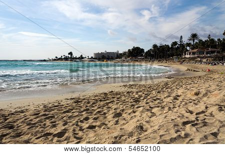 Wonderful sandy beach of Ayia Napa on Cyprus island
