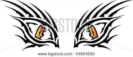 Expression Of Tiger Eye.eps