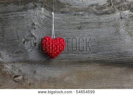 Merry Christmas Decoration Polka Dot Fabric Heart