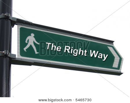 Right Themed Street Sign