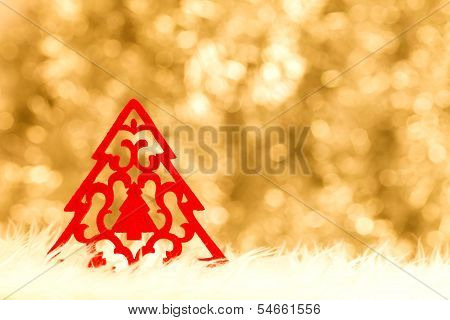 Handmade Red Christmas Tree