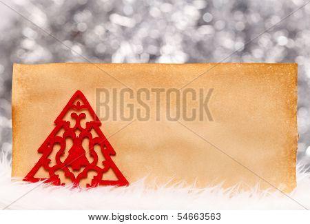 Fleece Tree On Old Paper