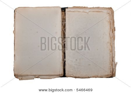 Vintage ancient book with old blank pages