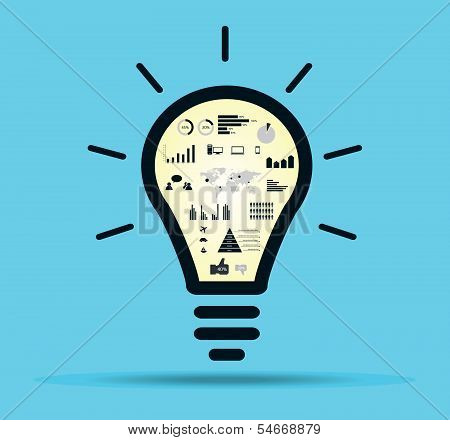 Infographic light bulb vector.