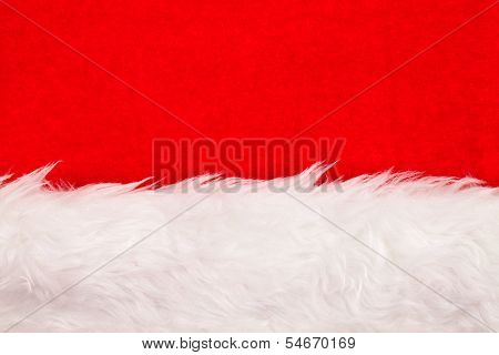 Red Velvet Background With White Fluffy Border