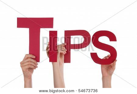 People Holding Tips