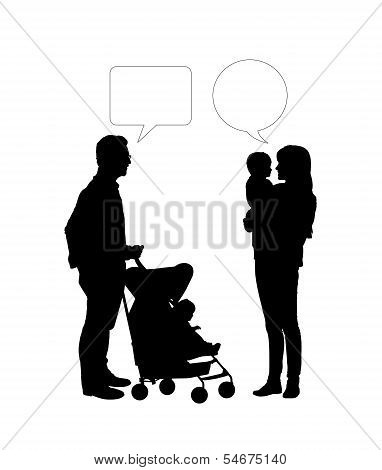 Dialogue Between Two Parents Of Young Children