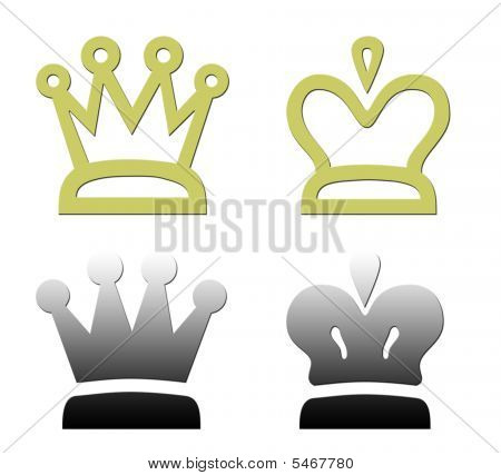 Set Of Four Crowns