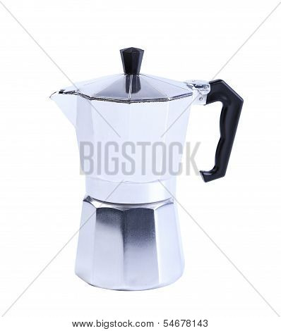 percolator coffee with the lid closed