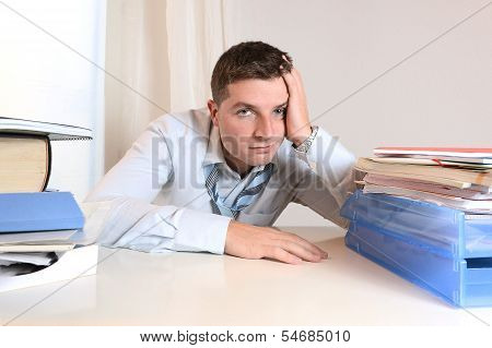 Overwhelmed Student  Or Businessman