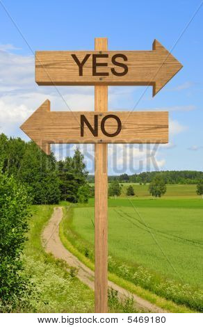 Big Decision Sign