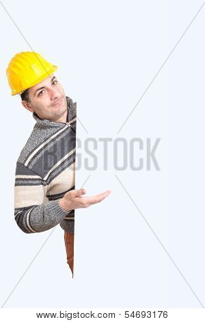 Engineer With A Helmet On His Head