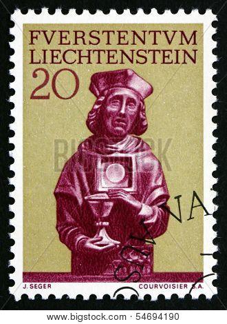 Postage Stamp Liechtenstein 1966 Statue Of St. Florin