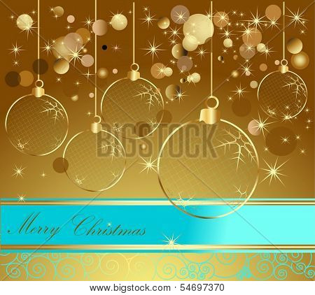 Happy New Year background gold and blue