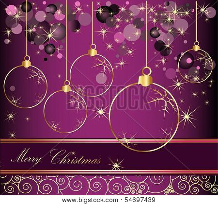 Happy New Year background gold and violet