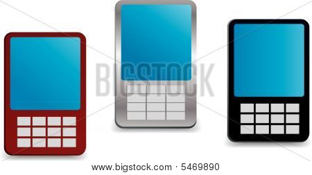 Generic Looking Vector Mobile Phones
