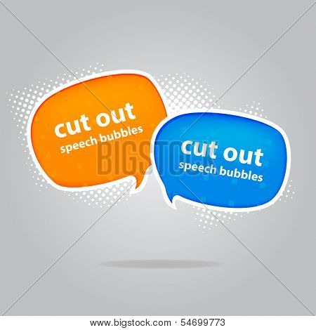 Cut out style speech bubbles