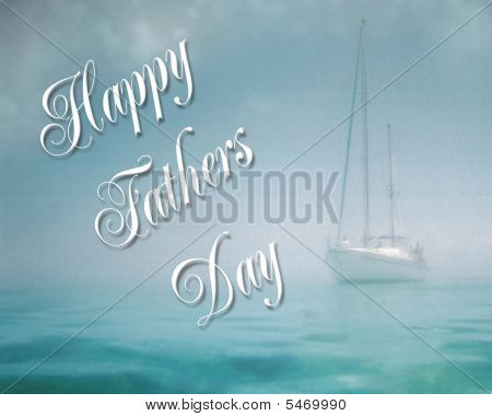 Fathers Day Card Background Sailing
