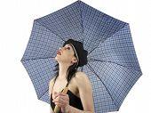 Art Girl With Umbrella poster