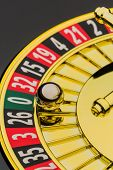 image of zero  - the cylinder of a roulette gambling in a casino - JPG