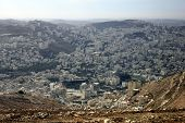 foto of samaria  - Nablus, the Biblical City of Shechem in the Samaria, betwen the Ebal Mount and Gerizim Mount, Holy Land, Israel