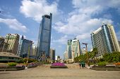 picture of free-trade  - Jinhu square in Nanning - JPG