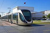 RABAT, MOROCCO - OCTOBER 15 2013: The Rabat tramway is a tram system which was put into service on M