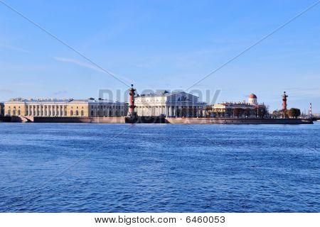 St. Petersburg. Neva And The  Vasilevsky Island