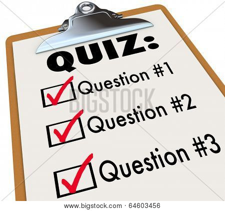 Quiz Clipboard Checklist Ask Answer Questions Test