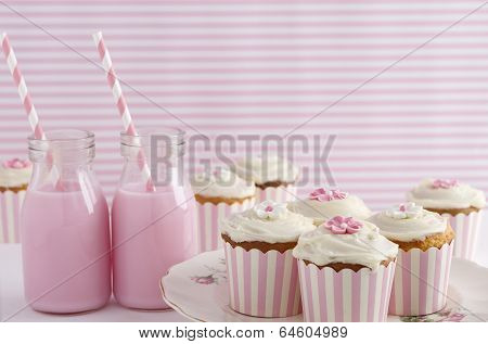 Pink Retro Theme Dessert Table Birthday Party